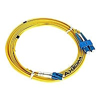 Axiom LC-LC Singlemode Duplex OS2 9/125 Fiber Optic Cable - 2m - Yellow - n