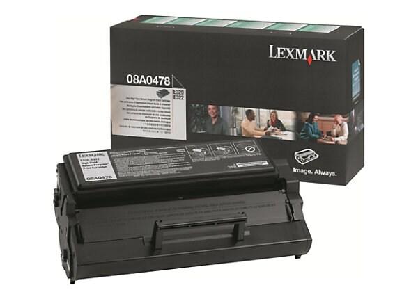 Lexmark E32X High Yield Return Program Toner Cartridge - Black