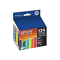 Epson 124 - 4-pack - Moderate Capacity - black, yellow, cyan, magenta - ori