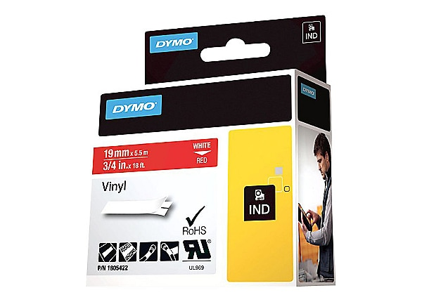 DYMO Rhino Coloured Vinyl - tape - 1 roll(s) - Roll (1.9 cm x 5.5 m)