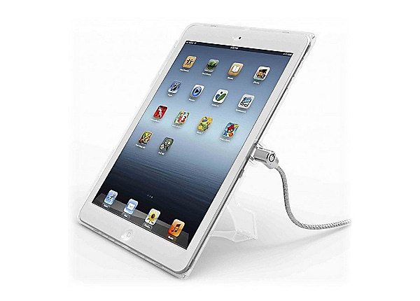 "Compulocks iPad 9.7"" Security Plastic Case Keyed Cable Lock Clear - protect"