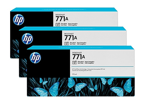 HP 771A Tri-pack - 3-pack - photo black - original - ink cartridge