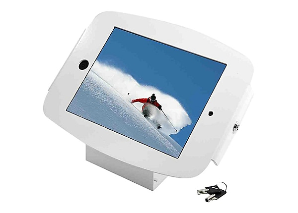Compulocks Space 45° iPad Mini Wall Mount / Counter Top Kiosk White - wall