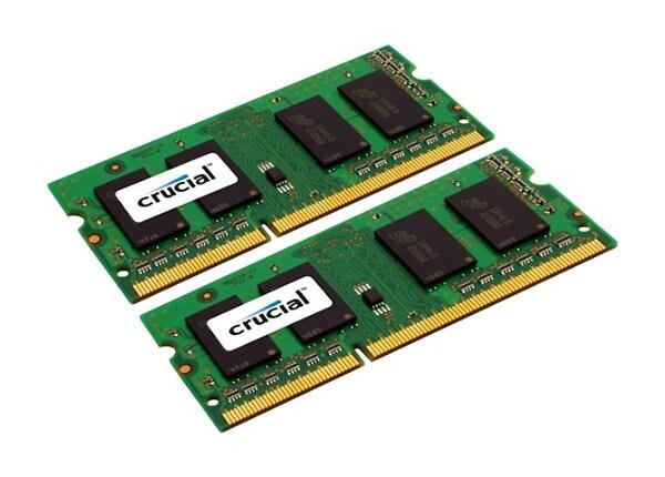 Crucial - DDR3L - 8 GB: 2 x 4 GB - SO-DIMM 204-pin - unbuffered