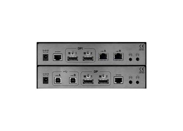 AdderLink X Series XD522 Transmitter and Receiver Pair - KVM / audio / seri