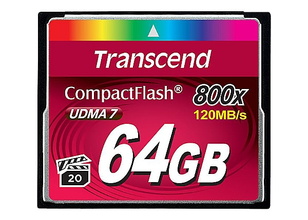 Transcend - flash memory card - 64 GB - CompactFlash