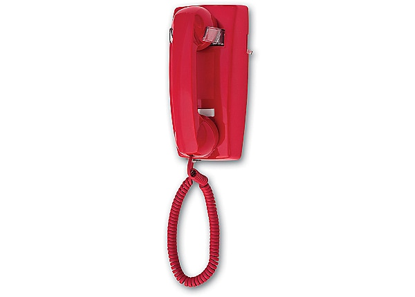 Cortelco 2554 Wall Phone - Red