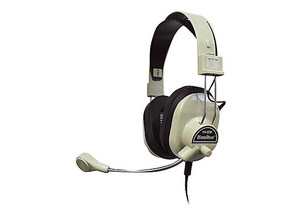 Hamilton HA-66M Deluxe Multimedia Headset with Mic - headset