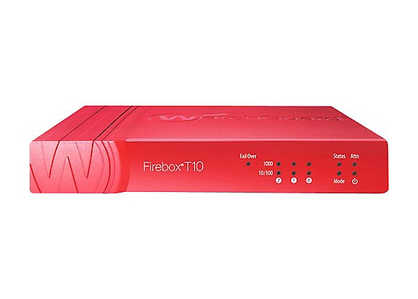 WatchGuard Firebox T10 - security appliance - with 3 years Basic Security S