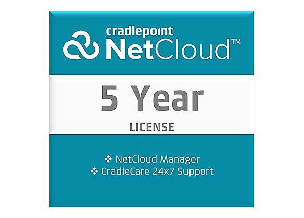 Cradlepoint NetCloud Manager Standard - subscription license (5 years) + 5