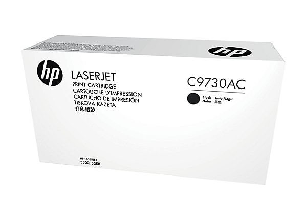 HP C9730AC - black - original - LaserJet - toner cartridge (C9730A) - Contr