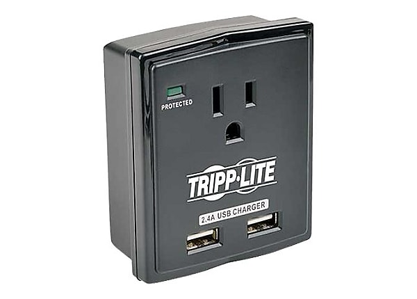 Tripp Lite Surge 1 Outlet 120V USB Charger Tablet Smartphone Ipad Iphone