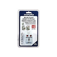 Digipower World Travel Adapter & Charger - power connector adapter with USB