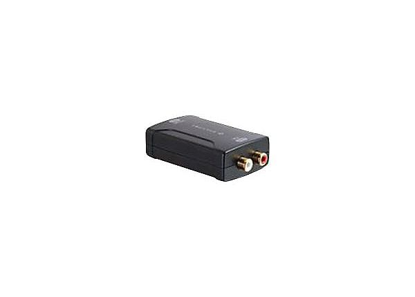 C2G Toslink to RCA Analog Audio Converter (DAC) - analog to digital audio c