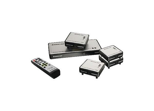 IOGEAR Long Range Wireless 5 x 2 HDMI Matrix PRO - wireless video/audio ext