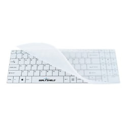 Seal Shield Clean Wipe Waterproof - keyboard - UK - white