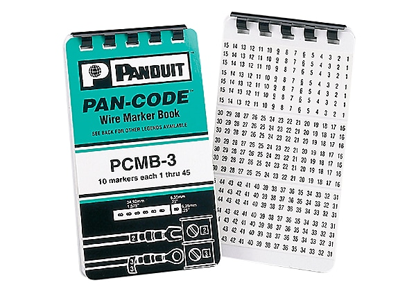 Panduit Pre-Printed Marker Book Var Symbols - wire / cable marker (preprint