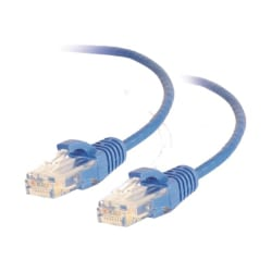 C2G 3ft Cat6 Snagless Unshielded UTP Slim Network Patch Ethernet Cable Blue