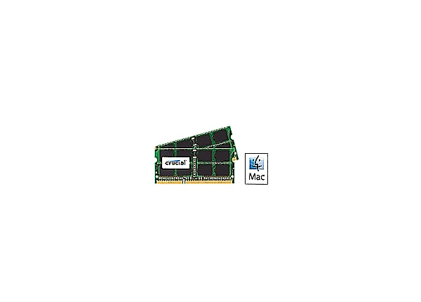 Crucial - DDR3 - 8 GB: 2 x 4 GB - SO-DIMM 204-pin - unbuffered