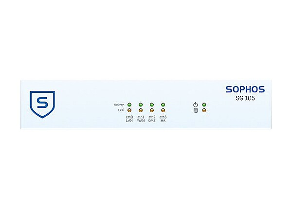 Sophos SG 105 - security appliance - with 2 years TotalProtect