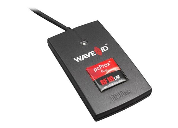 RF IDeas WAVE ID Plus Keystroke V2 Black Reader - RF proximity reader - USB
