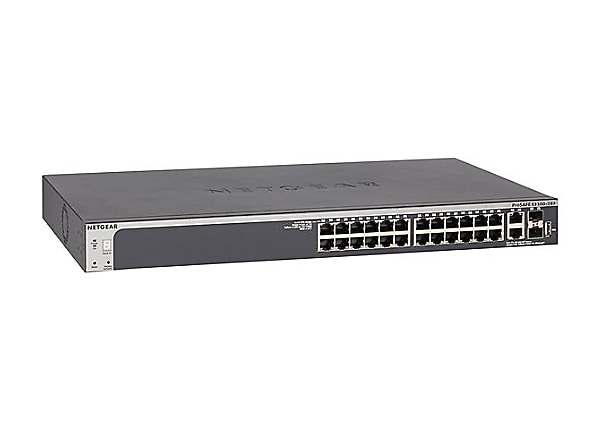NETGEAR 28-Port Smart Managed Pro Switch 24GbE, SFP+, 10GBASE-T (GS728TX)