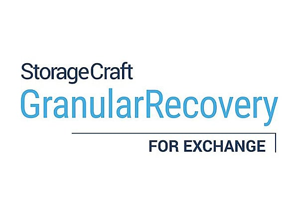 StorageCraft Granular Recovery for Exchange (v. 8.x) - license + 1 Year Mai