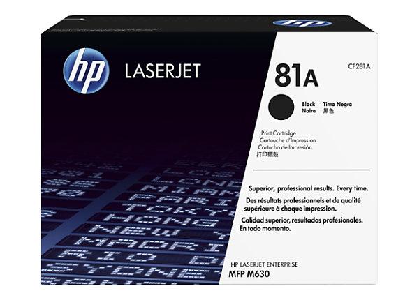 HP 81A - black - original - LaserJet - toner cartridge (CF281A)