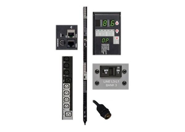 Tripp Lite PDU 3-Phase Switched 208V 8.6 kW L21-30P 24 C13; 6 C19 0URM TAA