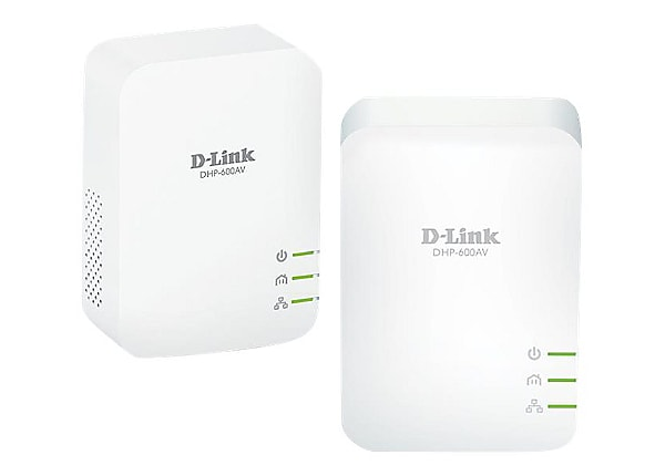 D-Link PowerLine AV2 600 Gigabit Starter Kit DHP-601AV - bridge - wall-plug