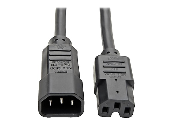 Tripp Lite Heavy Duty Computer Power Extension Cord 15A 14AWG C14 C15 10'