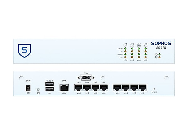 Sophos SG 125w - security appliance - with 1 year TotalProtect