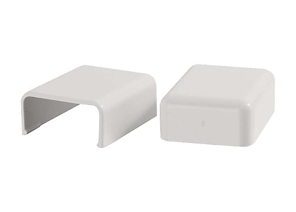 C2G 2 Pack Wiremold Uniduct 2800 Blank End Fitting - White - cable raceway