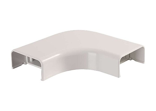 C2G Wiremold Uniduct 2900 Bend Radius Compliant Flat Elbow - Fog White - ca
