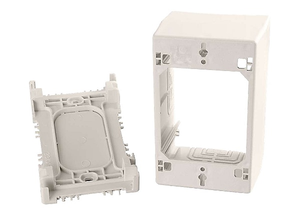 C2G Wiremold Uniduct Single Gang Extra Deep Junction Box - Fog White - cabl