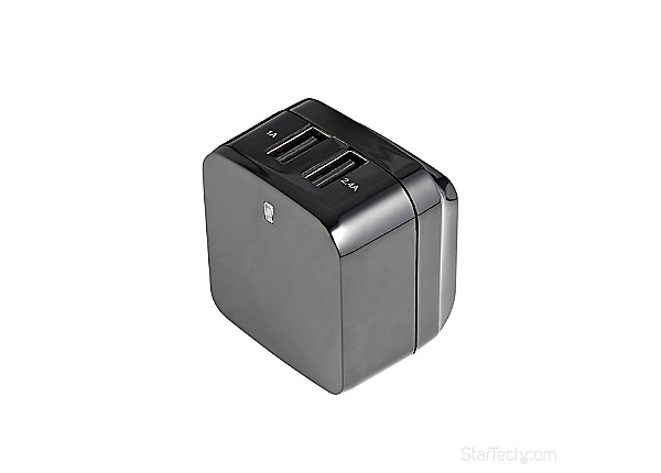 StarTech.com Dual Port USB Wall Charger 17W/3.4A – Travel Charger 110V/220V