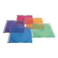 Verbatim 50Pack CD/DVD Color Slim Jewel Case
