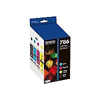 Epson 786 - 4-pack - black, yellow, cyan, magenta - original - ink cartridg