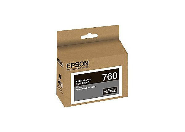 Epson 760 - black - original - ink cartridge