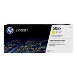 HP 508X - High Yield - yellow - original - LaserJet - toner cartridge (CF36