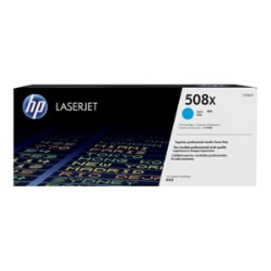 HP 508X - High Yield - cyan - original - LaserJet - toner cartridge (CF361X