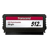 Transcend PATA Flash Module Vertical - solid state drive - 512 MB - IDE/ATA