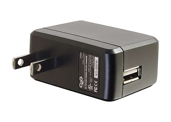 C2G AC to USB Power Adapter - Phone Charger - 5V 2A Output - USB Charger po