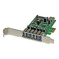 StarTech.com 7 Port PCI Express USB 3.0 Card - Standard & Low-Profile