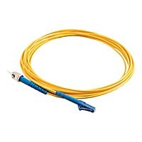 C2G 15m LC-ST 9/125 Simplex Single Mode OS2 Fiber Cable - Yellow - 50ft - p