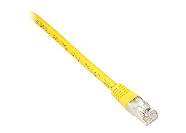 Black Box 7ft Double Shielded Yellow CAT6 250Mhz Ethernet Patch Cable, 7'