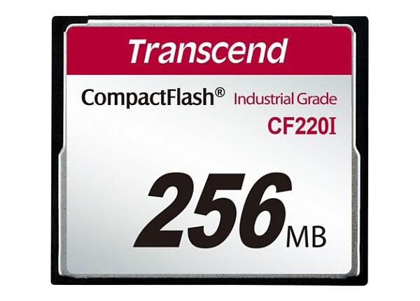 Transcend CF220I Industrial Temp - flash memory card - 256 MB - CompactFlas