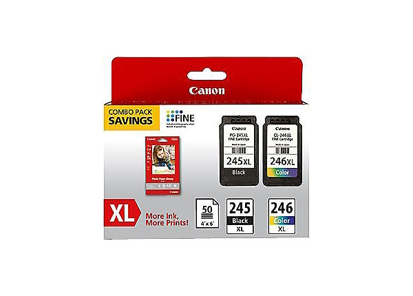 Canon PG-245 XL/CL-246XL Combo Pack with GP-502 - 2-pack - High Capacity -