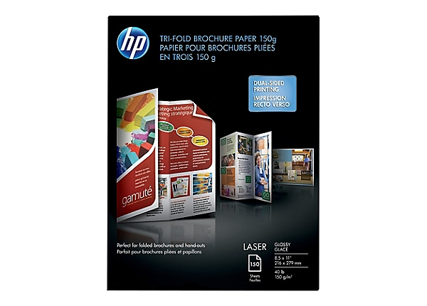 HP - tri-fold brochure paper - 150 sheet(s) - Letter - 150 g/m²