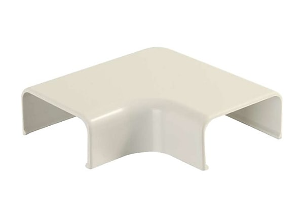 C2G Wiremold Uniduct 2900 90° Flat Elbow - Ivory - cable raceway elbow corn